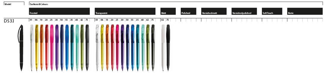 Prodir DS3.1 pennen - goedkoop bedrukte Prodir DS3.1 pennen bestellen in uw huisstijl? Laat uw Prodir pennen ontwerpen door BINQ Promotions. Snel goedkoop gratis ontwerp sample en verzending. Topkwaliteit voor scherpe prijzen bij BINQ is Prodir altijd in de aanbieding!