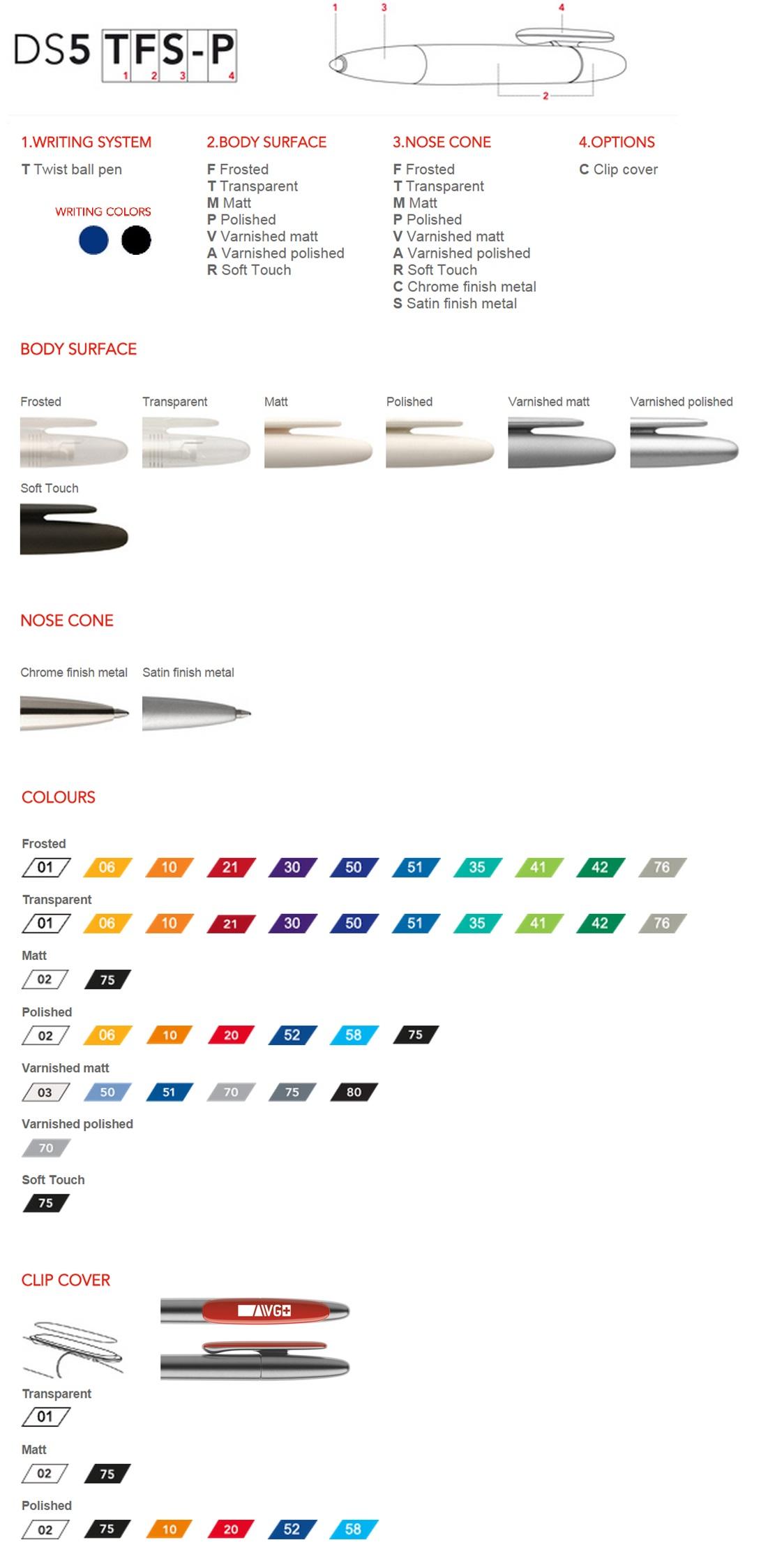 Prodir DS5 pennen personaliseren. De personalisatie opties, laat BINQ Promotions uw Prodir DS5 balpen personaliseren snel goedkoop.