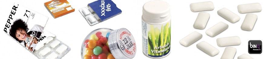 promotie kauwgom, bedrukt kauwgom met logo voor promotioneel gebruik