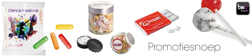 Promotie snoep, het lekkerste snoepgoed bedrukt met uw reclame. Een smaakvolle manier van promotie!