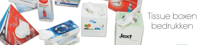 Goedkoop tissue boxen bedrukken in kleine oplage