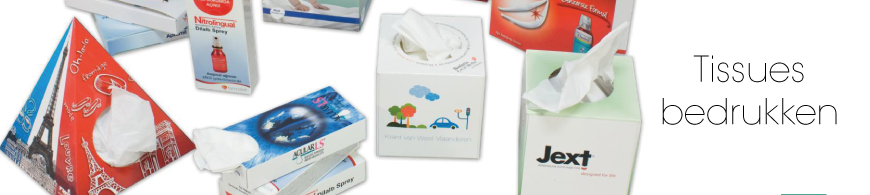 tissues bedrukken, goedkoop en vanaf kleine oplage verkrijgbaar.