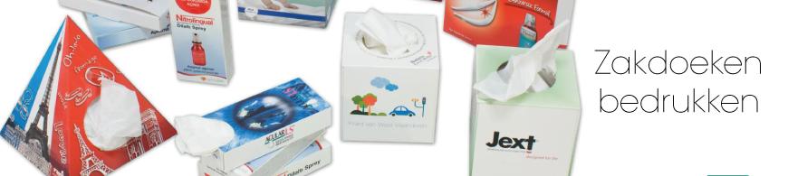 Zakdoeken bedrukken in kleine oplage.