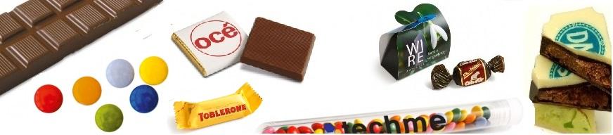 chocolade snoepjes bedrukken, de lekkerste chocolade snoepjes bedrukt met uw logo. Snel en goedkoop vanaf een kleine oplage.