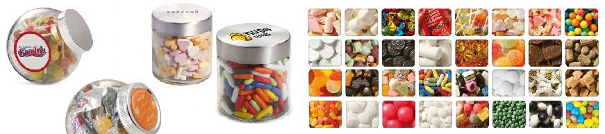 Goedkoop gevulde snoeppotten bedrukken met logo de lekkerste snoepvullingen