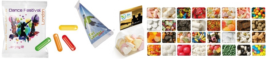 Snoepzakjes bedrukken - goedkoop zakjes snoep bedrukken vanaf een kleine oplage. Bestel snel en goedkoop bij BINQ Promotions