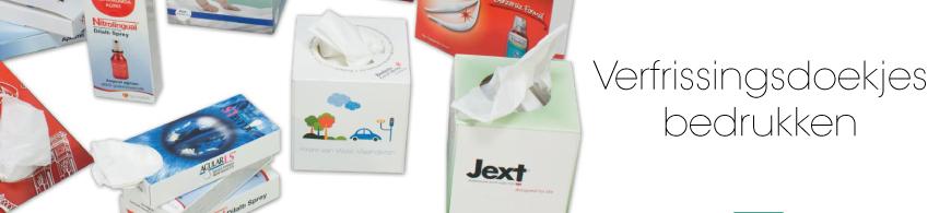verfrissingsdoekjes bedrukken met logo of reclame.